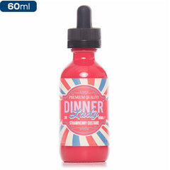 Dinner Lady Strawberry Custard 60ml premium eliquid ejuice Direct