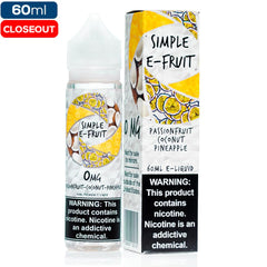 Simple E-Fruit - Passionfruit Coconut Pineapple closeout Simple E-Liquid-Fruit