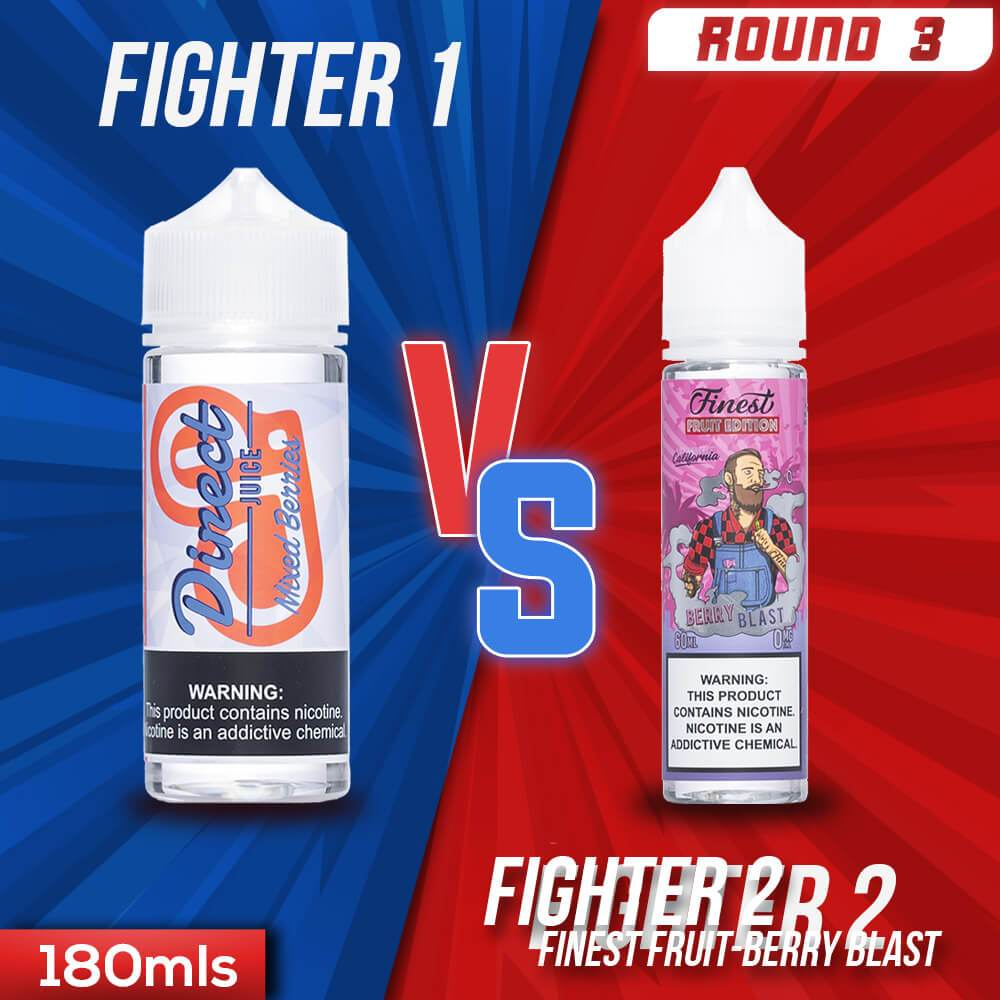 Us vs. Them - Direct Juice Mixed Berries vs. Finest Fruit Edition Berry Blast eJuice Showdown