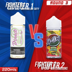 Us vs. Them - Direct Juice Watermelon Taffy vs. Hi Drip Water Melons eJuice Showdown