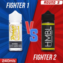 Us vs. Them - Direct Juice Lemon Pound Cake vs. HMBL Lemon Cake eJuice Showdown