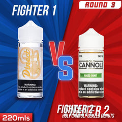 Us vs. Them - Direct Juice Glazed Donuts vs. Holy Cannoli Glazed Donuts eJuice Showdown