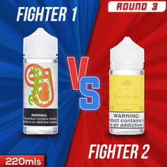 Us vs. Them - Direct Juice Sour Starwberry vs. Kilo Sour Series Strawberry Sours eJuice Showdown