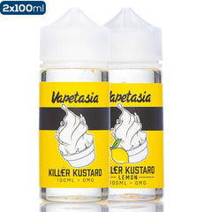 Vapetasia Killer Kustard Original & Lemon 2 Pack Premium Vape Juice Bundle eJuice Direct