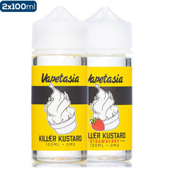 Vapetasia Killer Kustard Original & Strawberry 2 Pack Premium Vape Juice Bunde eJuice Direct