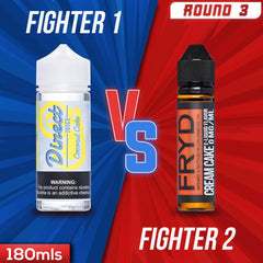 Us vs. Them - Direct Juice Coconut Cake vs. FRYD Cream Cake eJuice Showdown