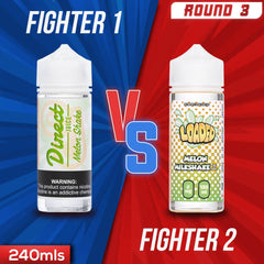 Us vs. Them - Direct Juice Melon Shake vs. Loaded Melon Milkshake eJuice Showdown