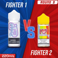 Us vs. Them - Direct Juice Rainbow Candy vs. Mad Hatter I Love Rainbow eJuice Showdown