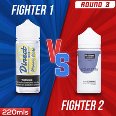 Us vs. Them - Direct Juice Bluenana Shake vs. Milkshake Liquids Bomberry Shake eJuice Showdown