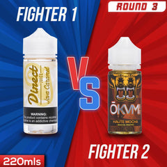 Us vs. Them - Direct Juice Java Caramel vs. Okami Haute Mocha eJuice Showdown