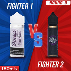 Us vs. Them - Direct Juice Grape Punch vs. Ruthless Grape Drank eJuice Showdown