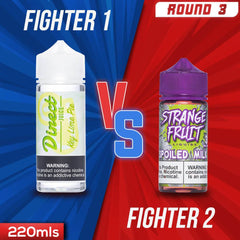 Us vs. Them - Direct Juice Key Lime Pie vs. Strange Fruit E-Liquid Spoiled Milk eJuice Showdown