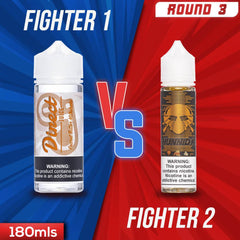Us vs. Them - Direct Juice Peanut Butter Milkshake vs. Transistor Hunnid K eJuice Showdown