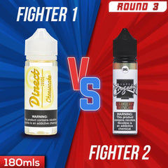 Us vs. Them - Direct Juice Cheesecake vs. Vape Crusaders Strawberry Cheesecake eJuice Showdown