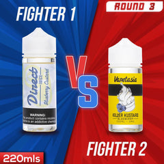 Us vs. Them - Direct Juice Blueberry Custard vs. Vapetasia Killer Kustard Blueberry eJuice Showdown