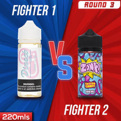 Us vs. Them - Direct Juice Cotton Candy vs. ZoNk! Cotton Candy eJuice Showdown
