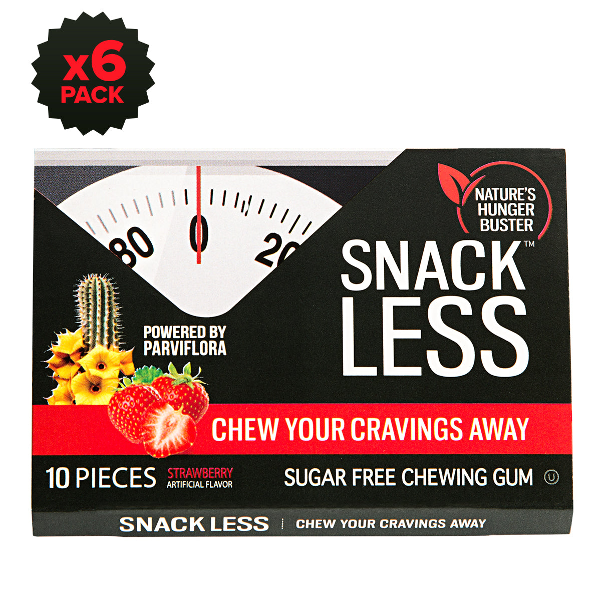 Chewing Gum, Strawberry (6 pack)