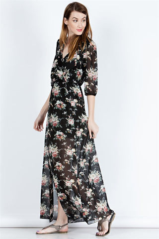 Light as a Feather Floral Maxi Dress