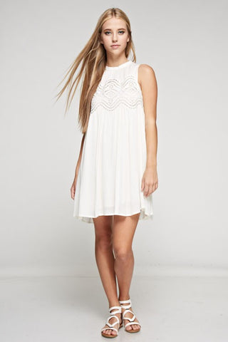 Wishful Thinking Cream Lace Dress