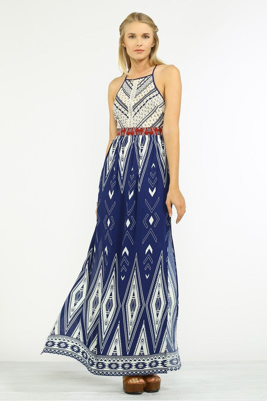 The Coachella print Maxi Dress