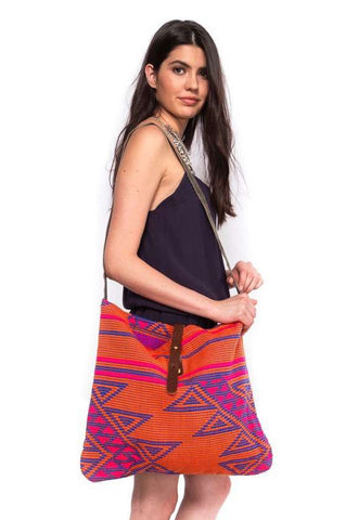 Multi Colored Aztec Satchel