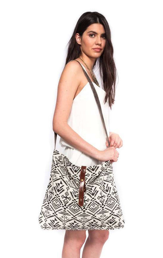 Tribal Print Large Satchel