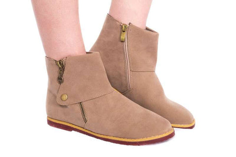 Step It Up Suede Combat Boot