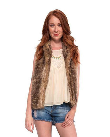 The Sleeveless Fur Vest