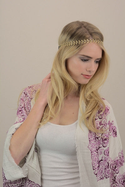 Gold Leaf Toga Headband