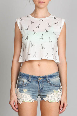 A Trip to Paris Crop Top