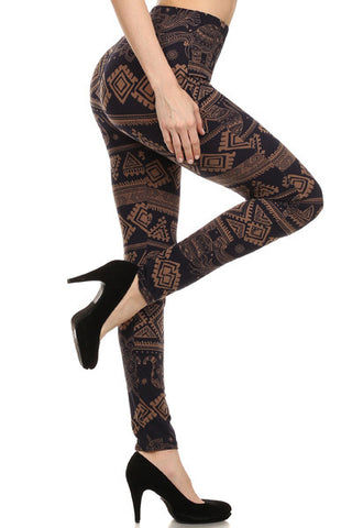 Back to Basics Leggings-Elephant Print