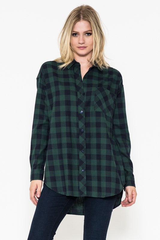 The Carter Oversized Flannel Shirt