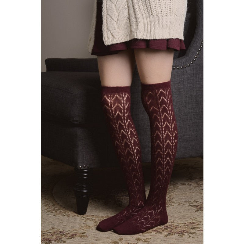Chevron Thigh High Socks