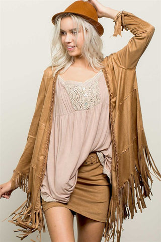 Fringe it Out Overlay Jacket