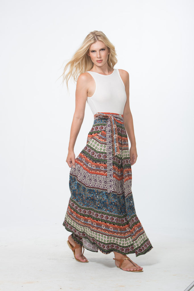 Hippie Love Maxi Wrap Skirt