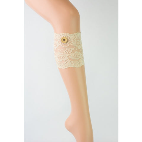 Lace Boot Cuffs Champagne