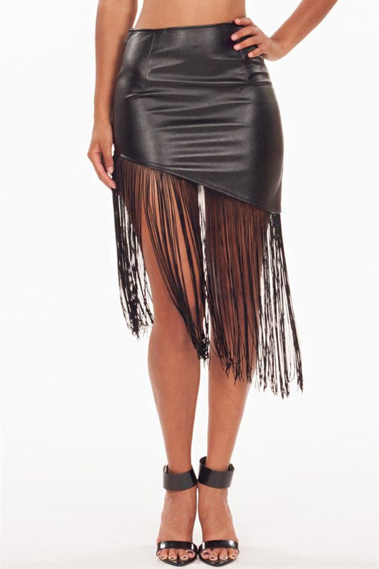 Let It Roll Leather Skirt