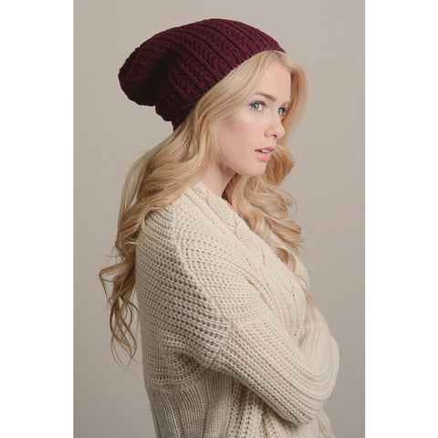 Pointelle Slouch Beanie
