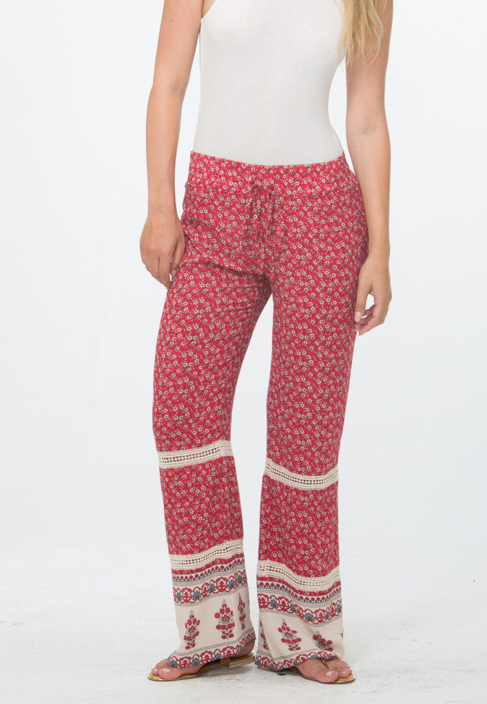 Pretty Palazzo Pant with Crochet Insert