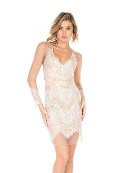 Sugar and Spice Sexy Dress- White