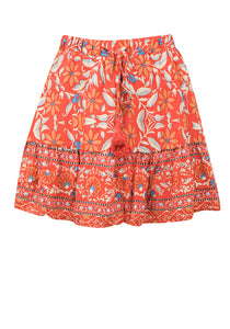 HELENE SKIRT IN BLOOD ORANGE