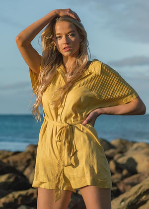 CROATIA PLAYSUIT - YELLOW