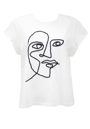 PICASSO TEE - WHITE