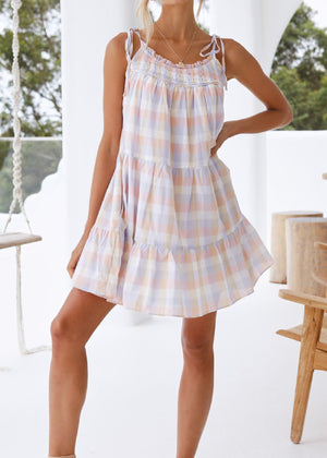 SUSIE GINGHAM MINI DRESS