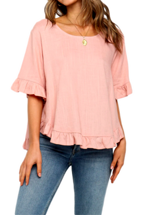DARBY TOP - ROSE