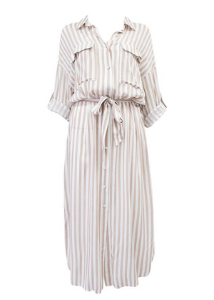 JORAH DRESS-BEIGE