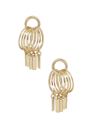 ETTIKA Mini Jingle Bar Hoops in Gold