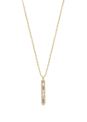 ETTIKA Crystal Bar Drop Necklace