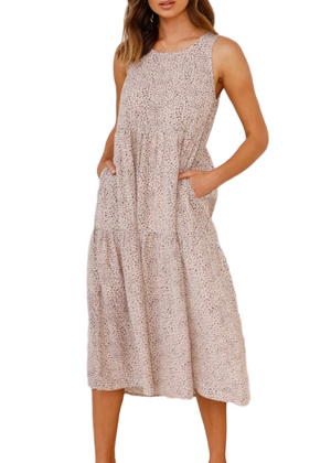 ANDREA DRESS - BEIGE