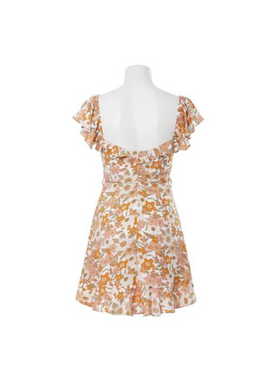 HENLY FLORAL MINI DRESS